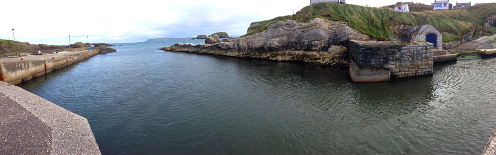 Ballintoy Harbour and harbour mouth