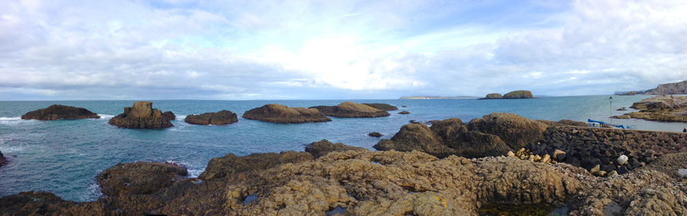 Ballintoy and the North Atlantic Ocean
