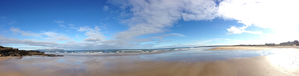 Castlerock Beach (Panorama), Northern Ireland